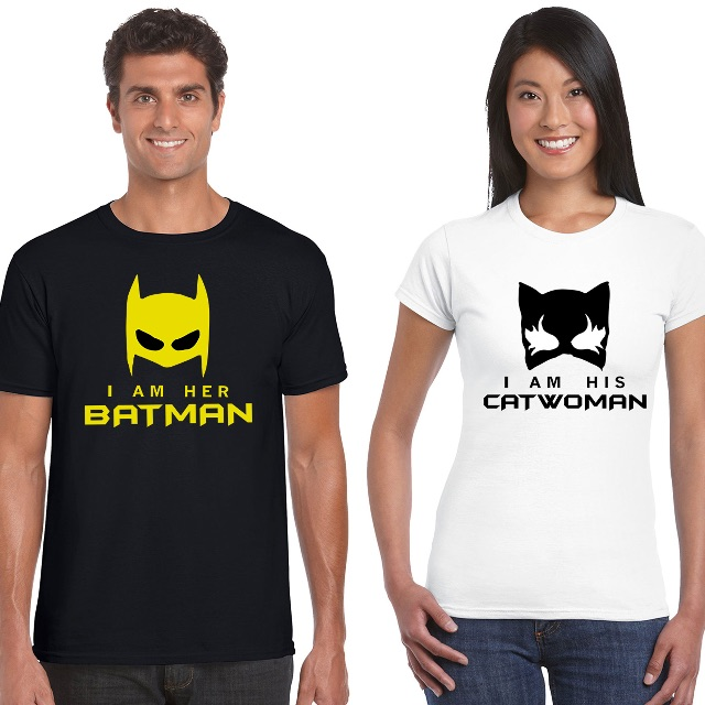 Batman Catwoman Matching Couple Shirts For Valentines Day Gift Mens Fashion On Carousell
