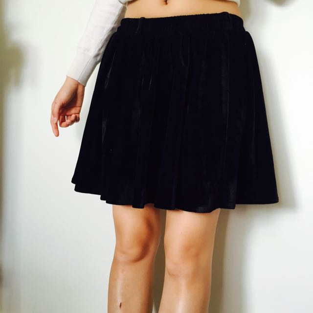 Black cords winter skirt fits size both 8and10