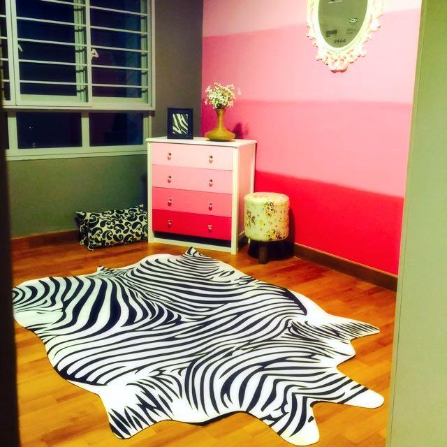 Bn Faux Zebra Hide Rug Furniture On