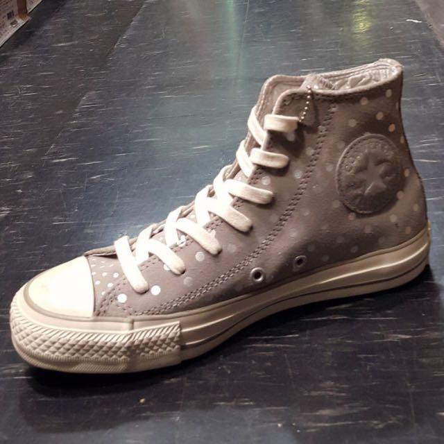 Converse Chuck Taylor All Star 高筒 麂皮 灰 點點 刷舊 復古
