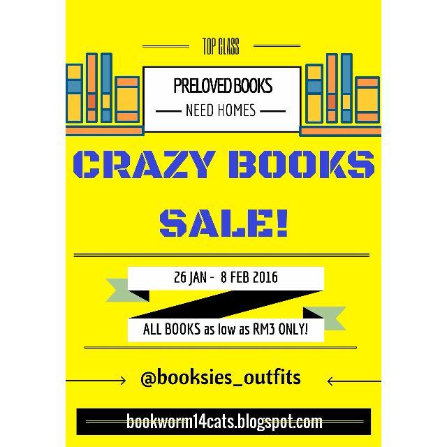 CRAZY BOOKS SALE!