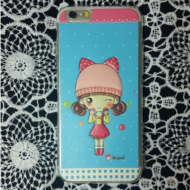 Cute iPhone 6 Case - Little Beanie Girl