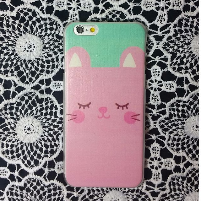 Cute iPhone 6 case - Pink Cat