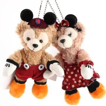 DUFFY & SHLLIEMAY 經典牛仔/米奇米妮萬聖節 熊熊吊飾