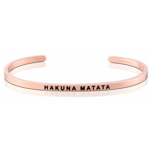 HAKUNA MATATA 玫瑰金色 Mantraband悄悄話手環