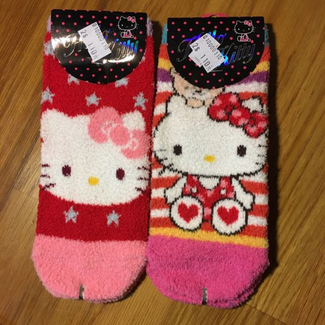 🇰🇷hello kitty珊瑚絨襪襪🇰🇷