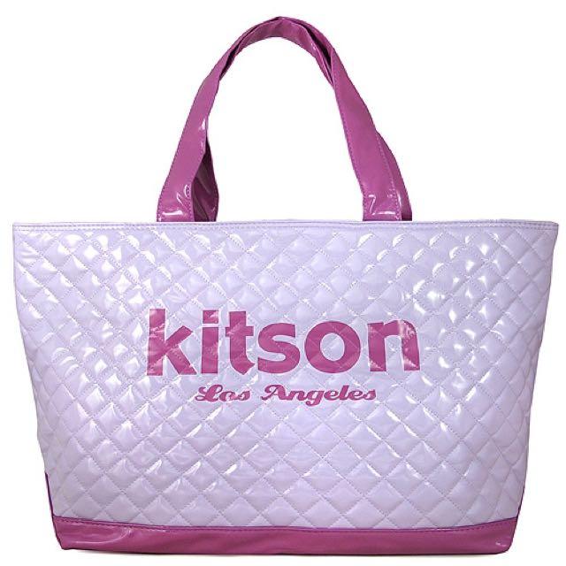 Kitson 漆皮托特肩背包