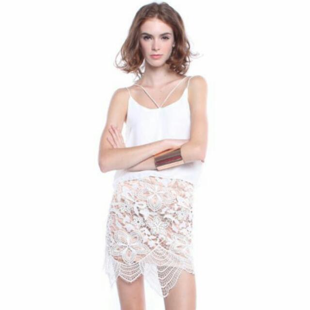 c999010a94 Self Portrait Inspired Overlay Crochet Lace Skirt, Women's Fashion ...