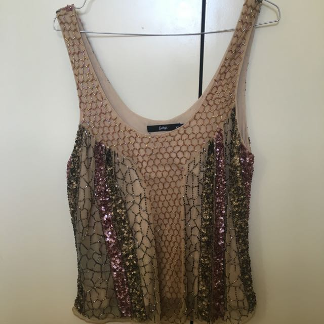 SPORTSGIRL sequin Top