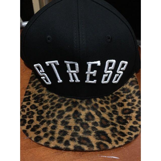 (二手)Stress.co 潮牌 豹紋 帽子 棒球帽
