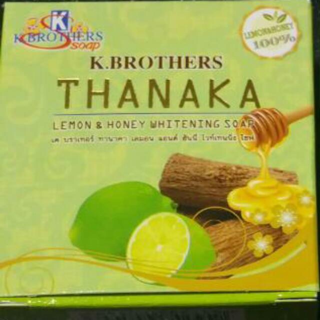 Thanaka Honey And Lemon Whitening Soap