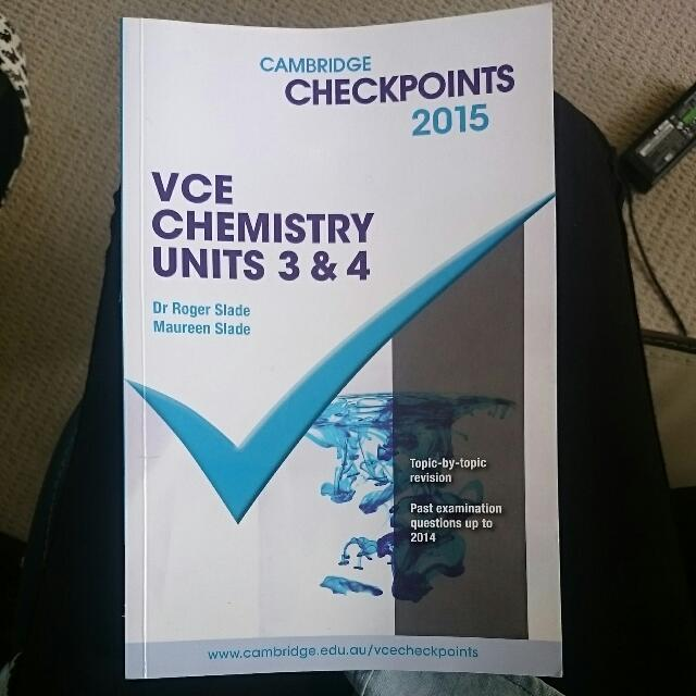 VCE Chemistry Units 3/4 Cambridge Checkpoints 2015.  Price negotiable