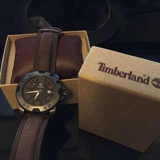 Timberland 時尚皮革腕錶 全新