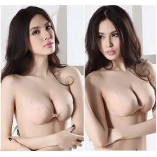 Sexy Invisible Backless Nu Bra Strapless Seamless Adhesive Self Sticking Silicone Push Up Lingerie Underwear