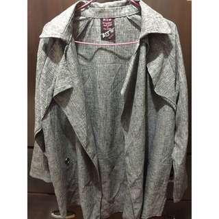 (全新)灰色西裝造型韓版外套