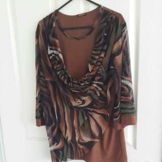 Brown Top Great Condition Worn Once Only.