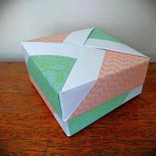 Home Made Origami Box/Paper Container/Jewellery Holder/Ornament