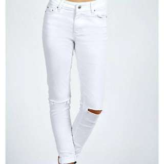 Boohoo Ripped knee skinny Jeans Size AUS/UK 6