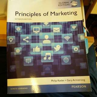 Principles of Marketing 16th Sixteenth Edition Philip Kotler Gary Armstrong