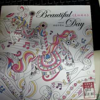 Clearance -Original- New- Beautiful Day Coloring Book