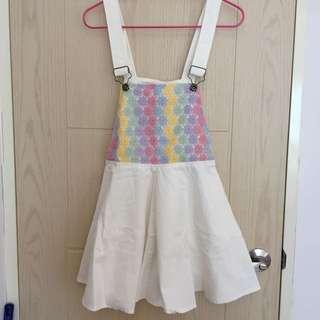 超可愛 小花 吊帶裙 全新