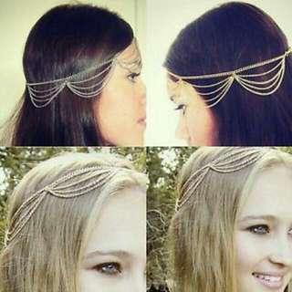 Chain Headpiece (Gold)