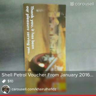 Shell Fuel Voucher From January 2016 To December 2016 For Motorcycle