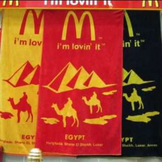 ✨埃及麥當勞限定浴巾