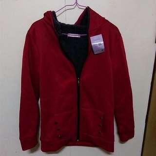 韓國內刷毛鈕釦造型外套