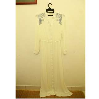 MAXI white dress LONG sleeve FREE POS