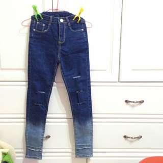 (含運)高腰漸層牛仔褲