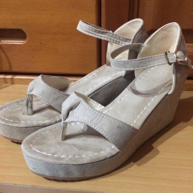 二手37*楔型涼鞋