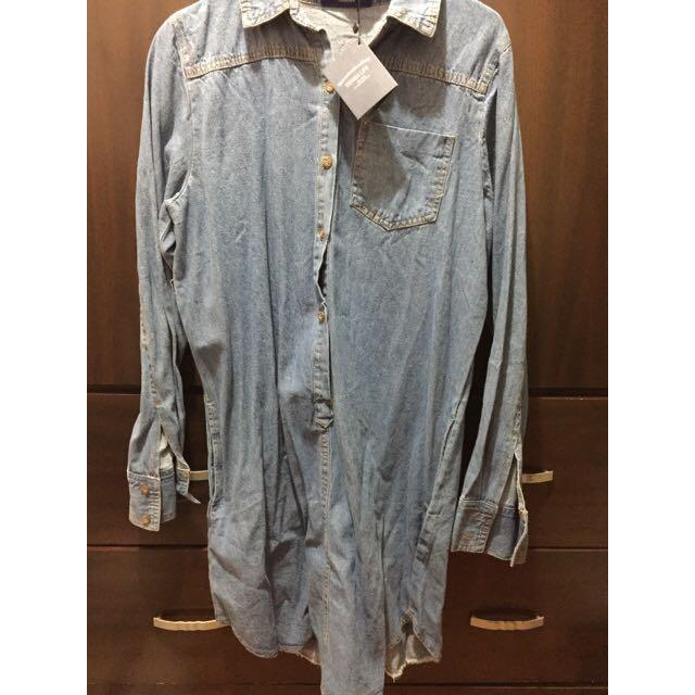 (全新)淺藍牛仔洋裝