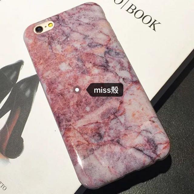 💯🅾誹紅大理石紋手機殼💋❤️💘