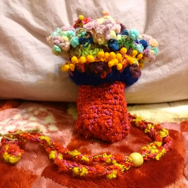 彩菇-手工織品手機包(跳樓拍賣價)