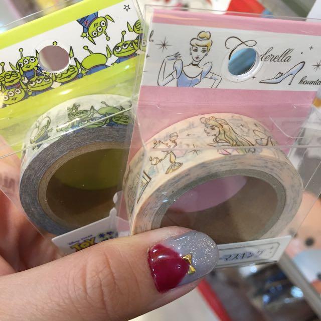 現貨迪士尼 超實用紙膠帶 三眼怪/公主款