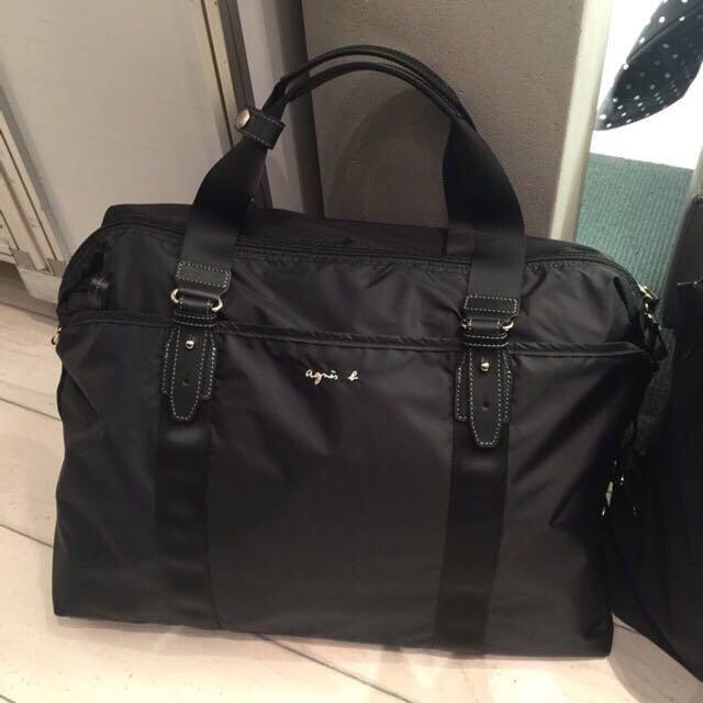 【Agnes'b 行李包。大款】現貨。日本購回。保證正品💯
