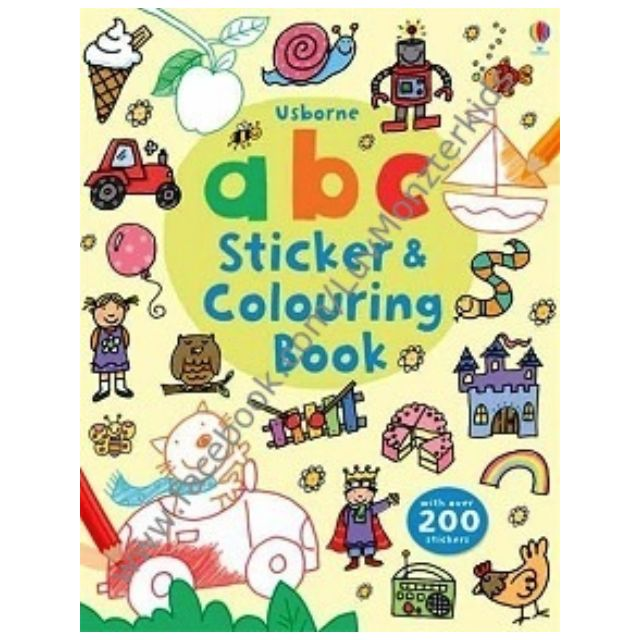Brand New Usborne Abc Sticker And Colouring Book Babies Kids