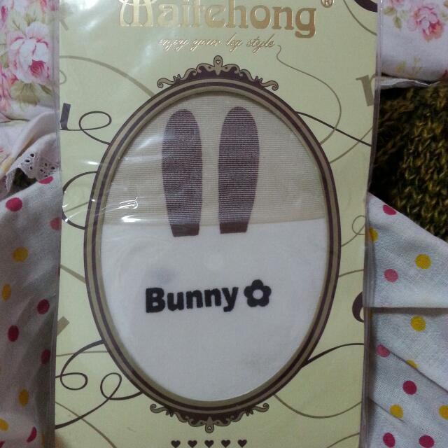 日製Bunny兔子假膝上大腿絲襪
