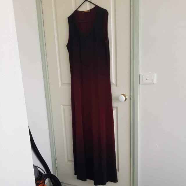 Burgundy Maxi Dress Size 16-18 Worn Once Only