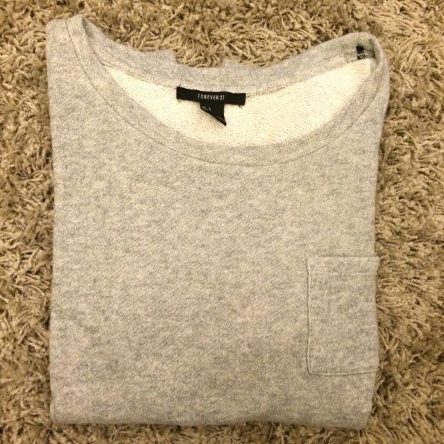 Grey shirt f21 Freepos!