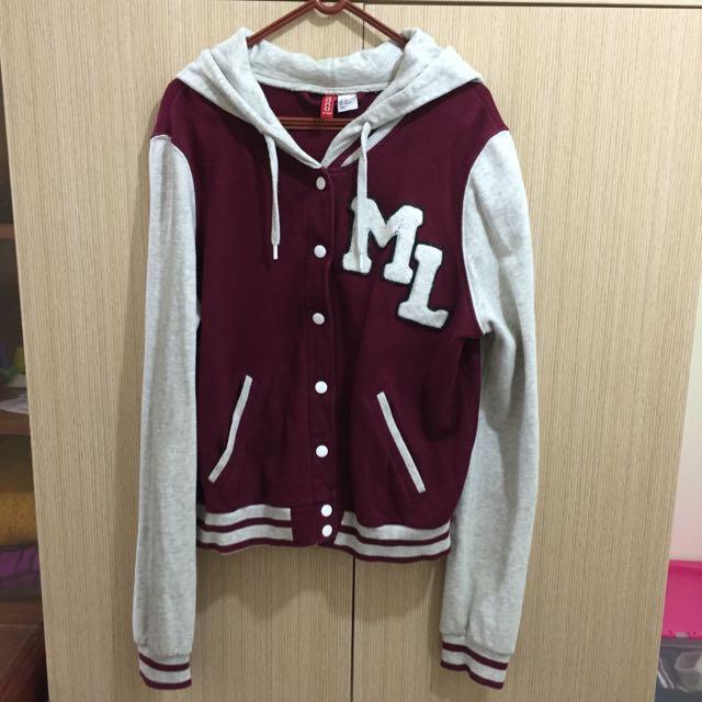 (二手)H&M棒球棉外套