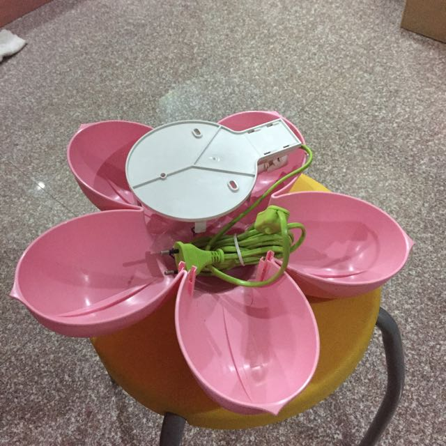 Ikea pink flower wall lamp with light bulb furniture on carousell mightylinksfo