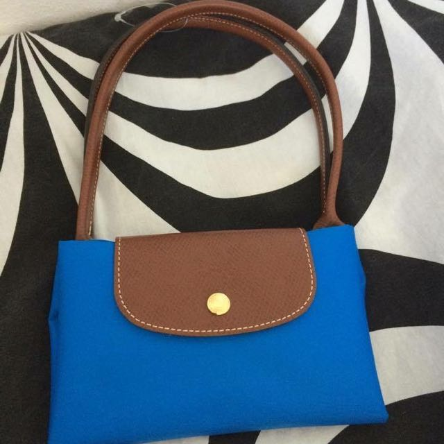 Longchamp釉藍長柄s