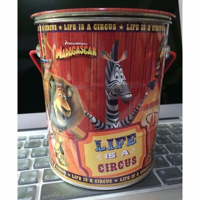 Madagascar 馬達加斯加 餅乾桶 空桶