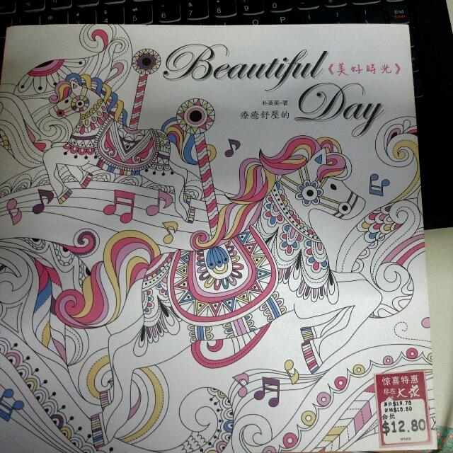Clearance Original New Beautiful Day Coloring Book Design
