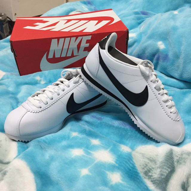 Nike CLASSIC CORTEZ LEATHER 阿甘 白 女鞋
