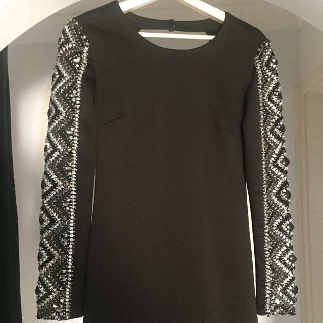 TOPSHOP Embellished Black Dress BNWT