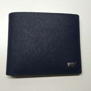 Braun Buffel Wallet (Curzio-314) (Navy/Grey)