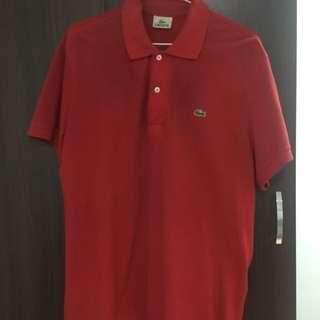 Lacoste 紅polo衫